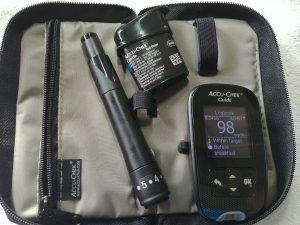 Blood glucose reading on Accur-Chek Guide