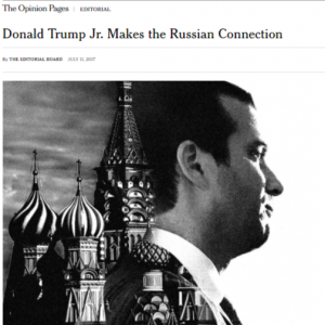 New York Times: Donald Trump, Jr. makes the Russian connection