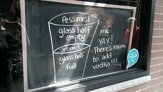 Diabetes, it's a glass half-empty kind of thing