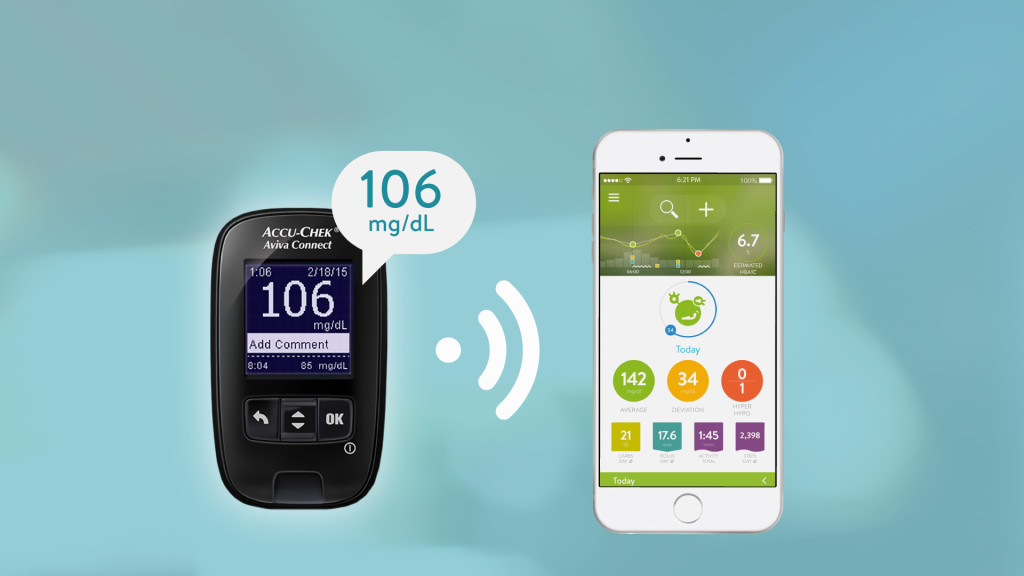 MySugr app combines with Accu-Chek Guide meter for integrated BG monitoring and logging